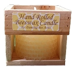 Rolled Candle In Crate